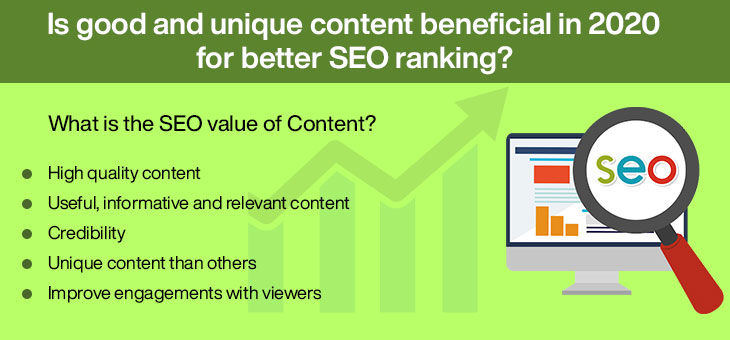 Is good and unique content beneficial in 2020 for better SEO ranking?
