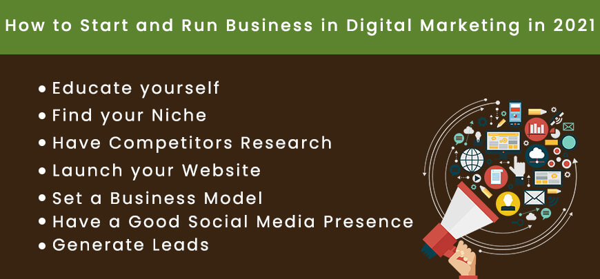 How to Start and Run Business in Digital Marketing in 2021