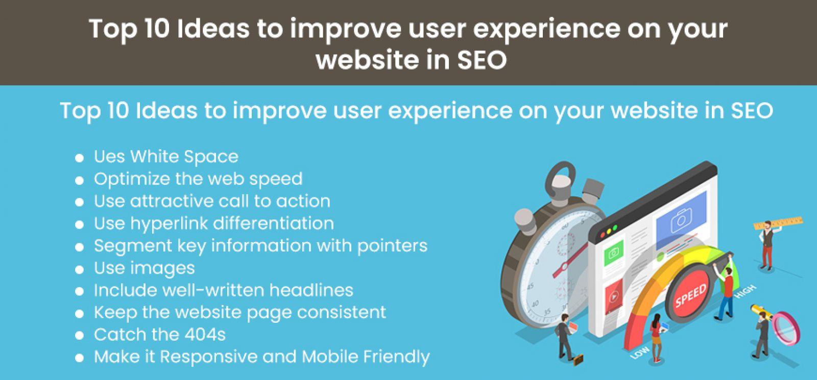 Top 10 Ideas to improve user experience on your website in SEO